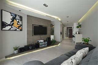 60平一居室装修电视背景墙图片
