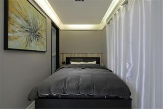 60平一居室装修卧室背景墙图片