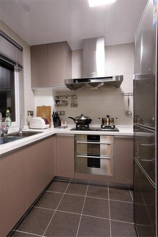 90平简约风二居装修厨房构造图