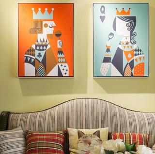80平美式风格三居装修设计图