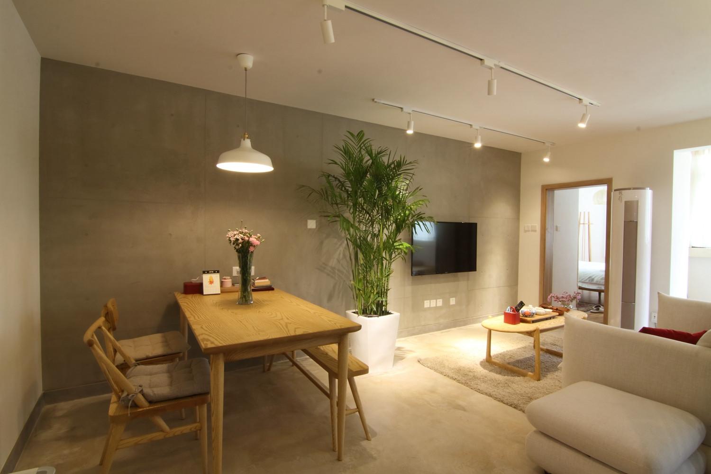 日式风格二居客餐厅布局图