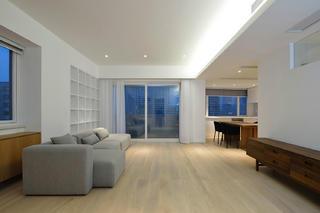 极简复式装修客厅效果图