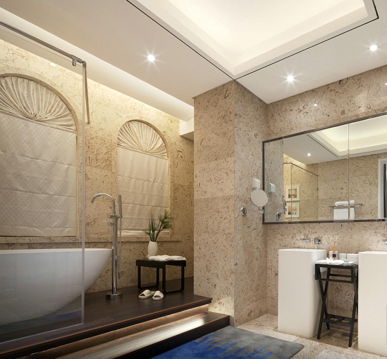 现代简约唯美别墅装修卫生间设计图