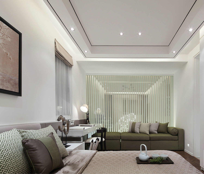 现代简约唯美别墅装修卧室设计图