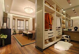 大户型新中式装修衣柜图片
