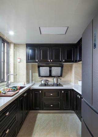 70平挑高小复式装修厨房布局图