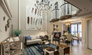 70平挑高小复式装修客厅设计图