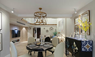 70平挑高小复式装修餐厅设计图