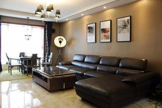 135平现代风格装修沙发背景墙图片