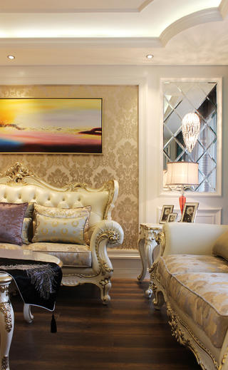 欧式三居装修沙发图片