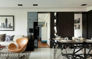 现代简约风三居室装修过道图片