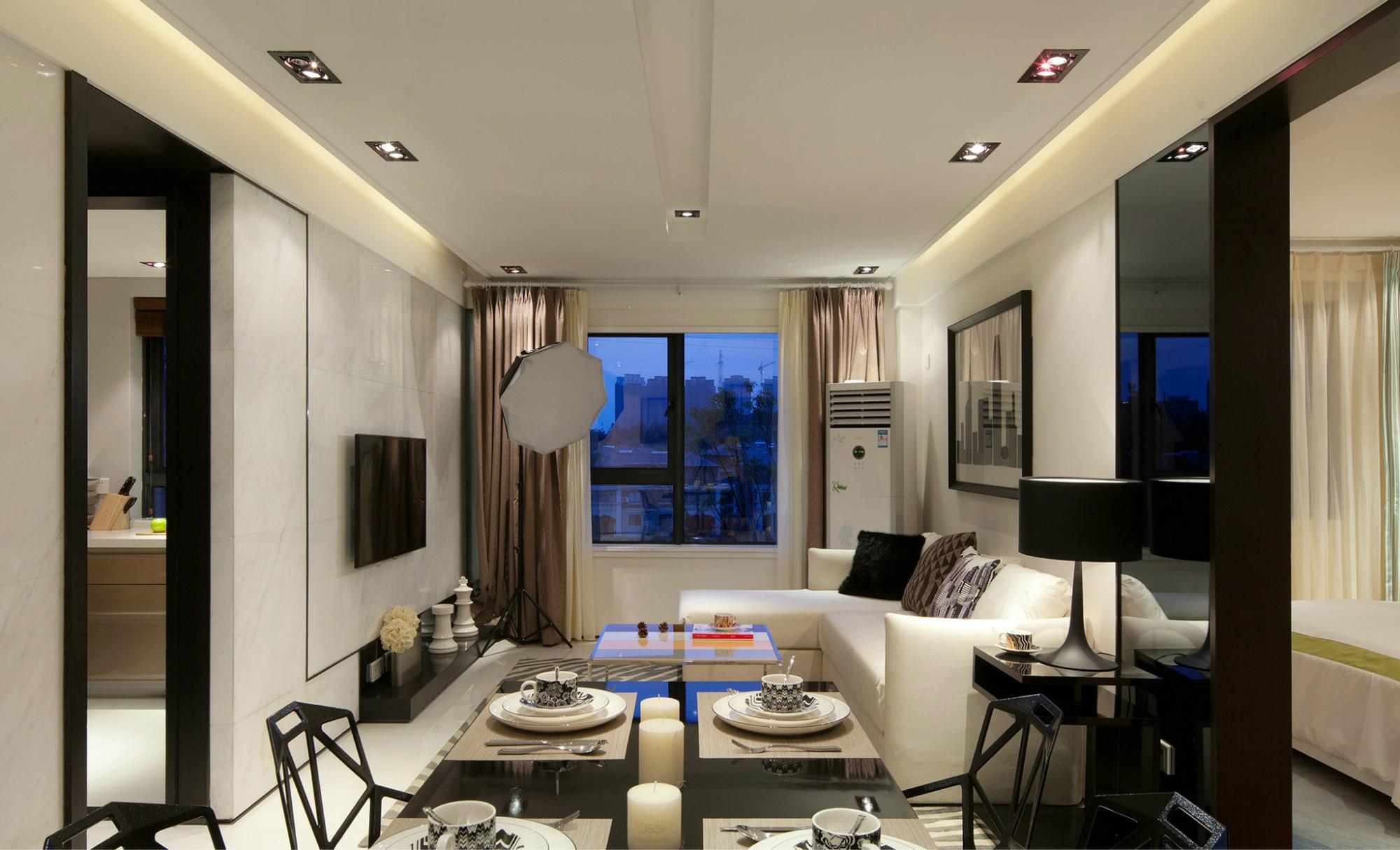 现代简约风三居室装修客厅效果图