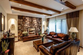 地中海风格别墅装修地下室客厅