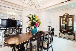 新古典混搭二居装修餐桌椅图片
