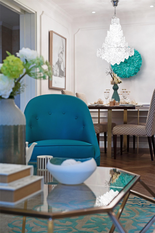 80平现代美式装修沙发椅图片