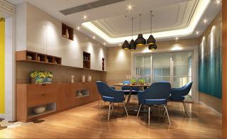 现代简约装修餐厅设计图