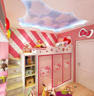 现代简约装修儿童床设计