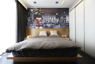 北欧风格二居卧室背景墙图片