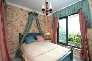 115平美式之家卧室背景墙图片