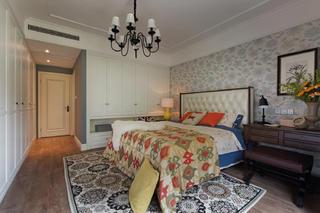 145平蓝调美式装修卧室设计图