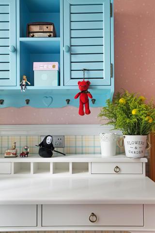 145平蓝调美式装修书桌图片