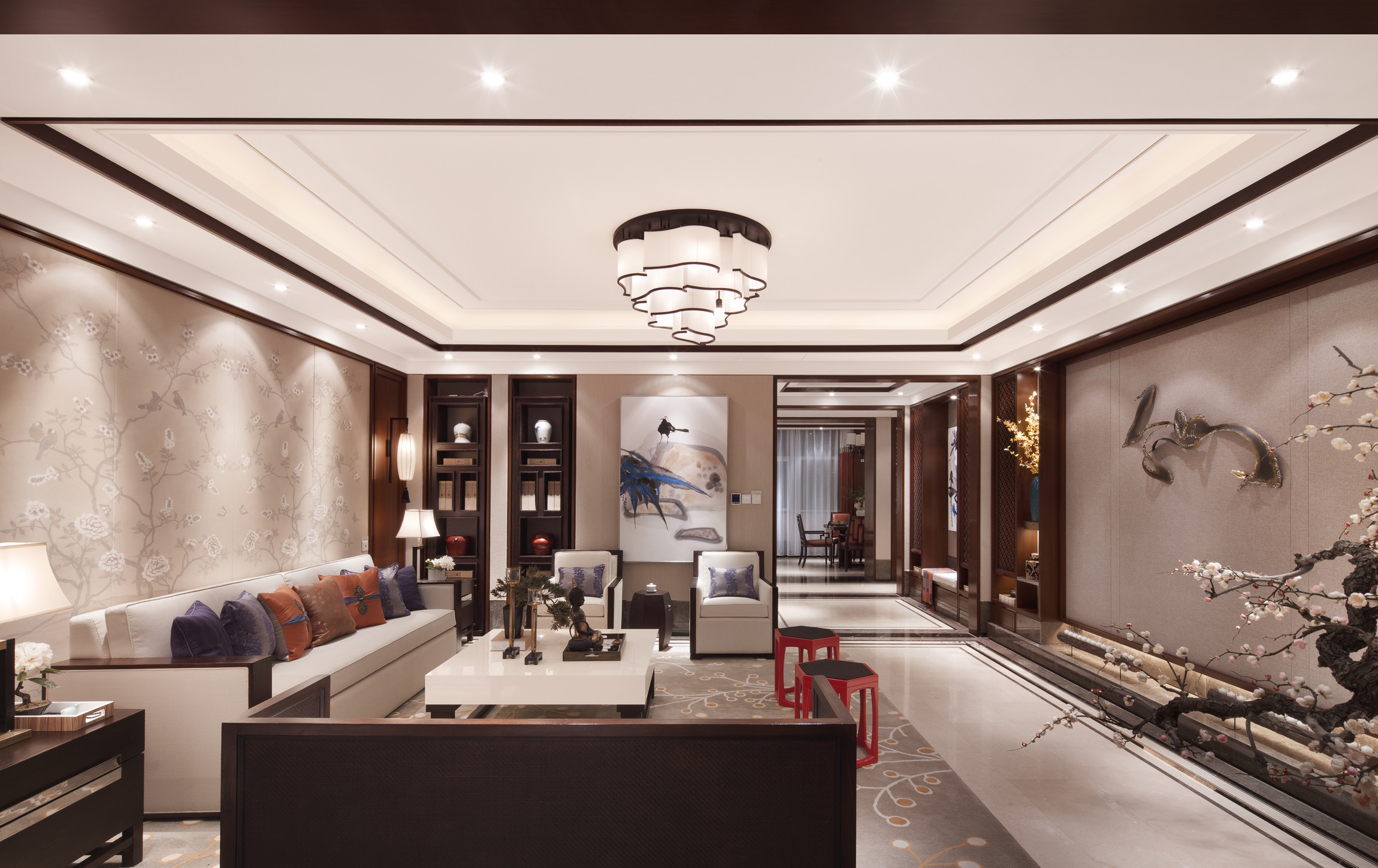 160平中式装修客厅效果图