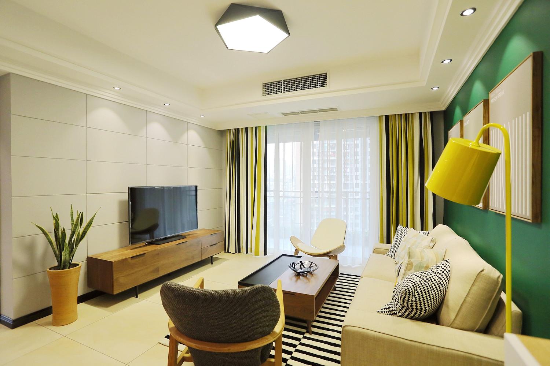 现代公寓装修电视背景墙图片