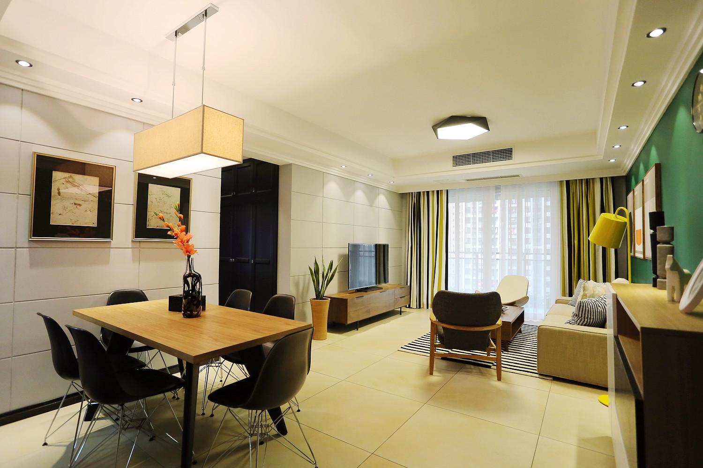 现代公寓装修客厅吊顶设计