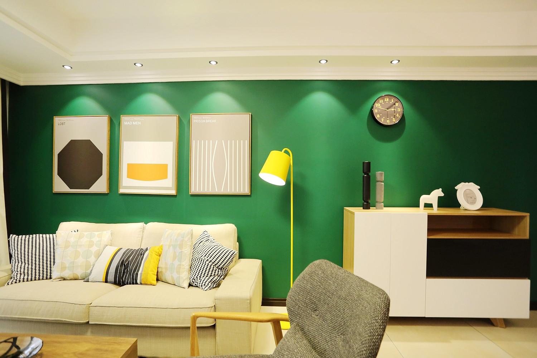 现代公寓装修沙发背景墙图片
