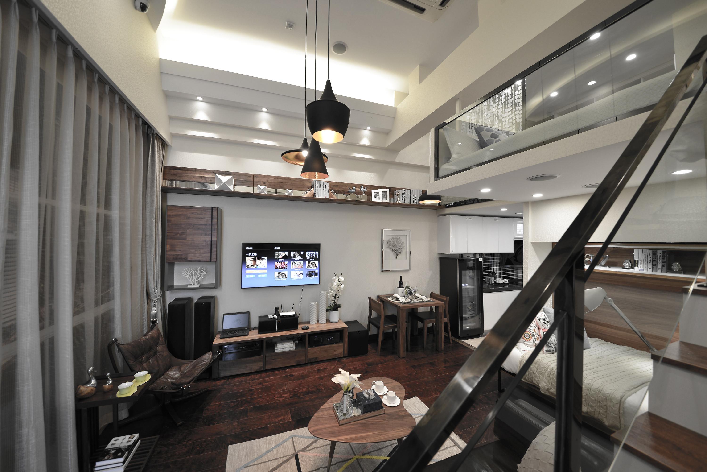 小户型公寓装修客厅吊灯图片