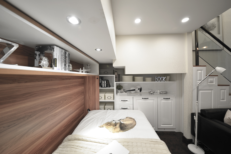 小户型公寓装修单人床图片