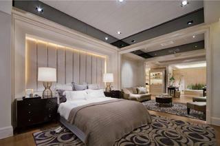 130平现代简欧样板房主卧设计图