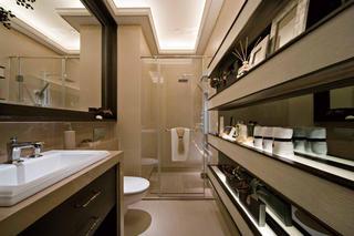 130平现代简欧样板房卫生间效果图