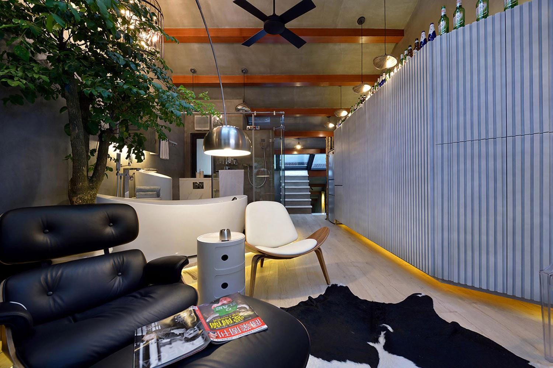 60平Loft工业风设计沙发椅图片