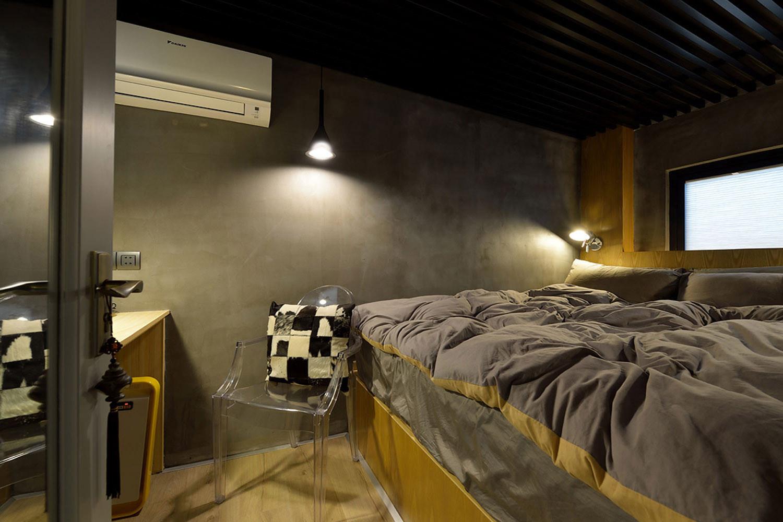 60平Loft工业风设计卧室效果图