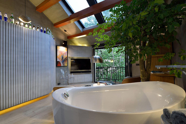 60平Loft工业风设计浴缸图片