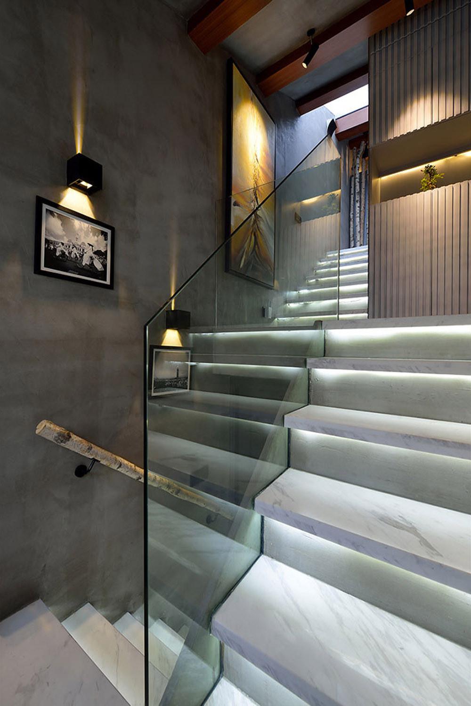 60平Loft工业风设计楼梯图片