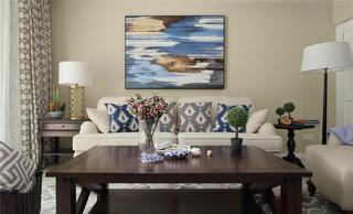 美式风格三居沙发背景墙图片