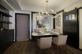 105平现代英伦风格家餐厅效果图