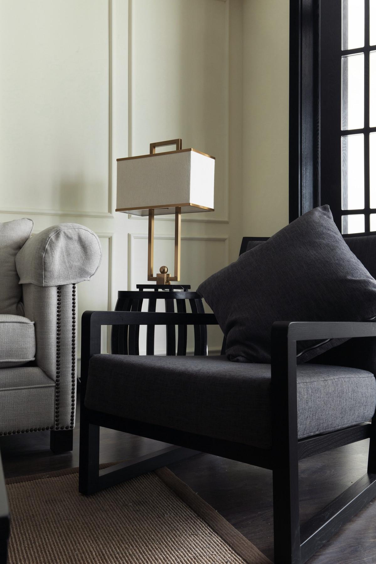 105平现代英伦风格家客厅一角