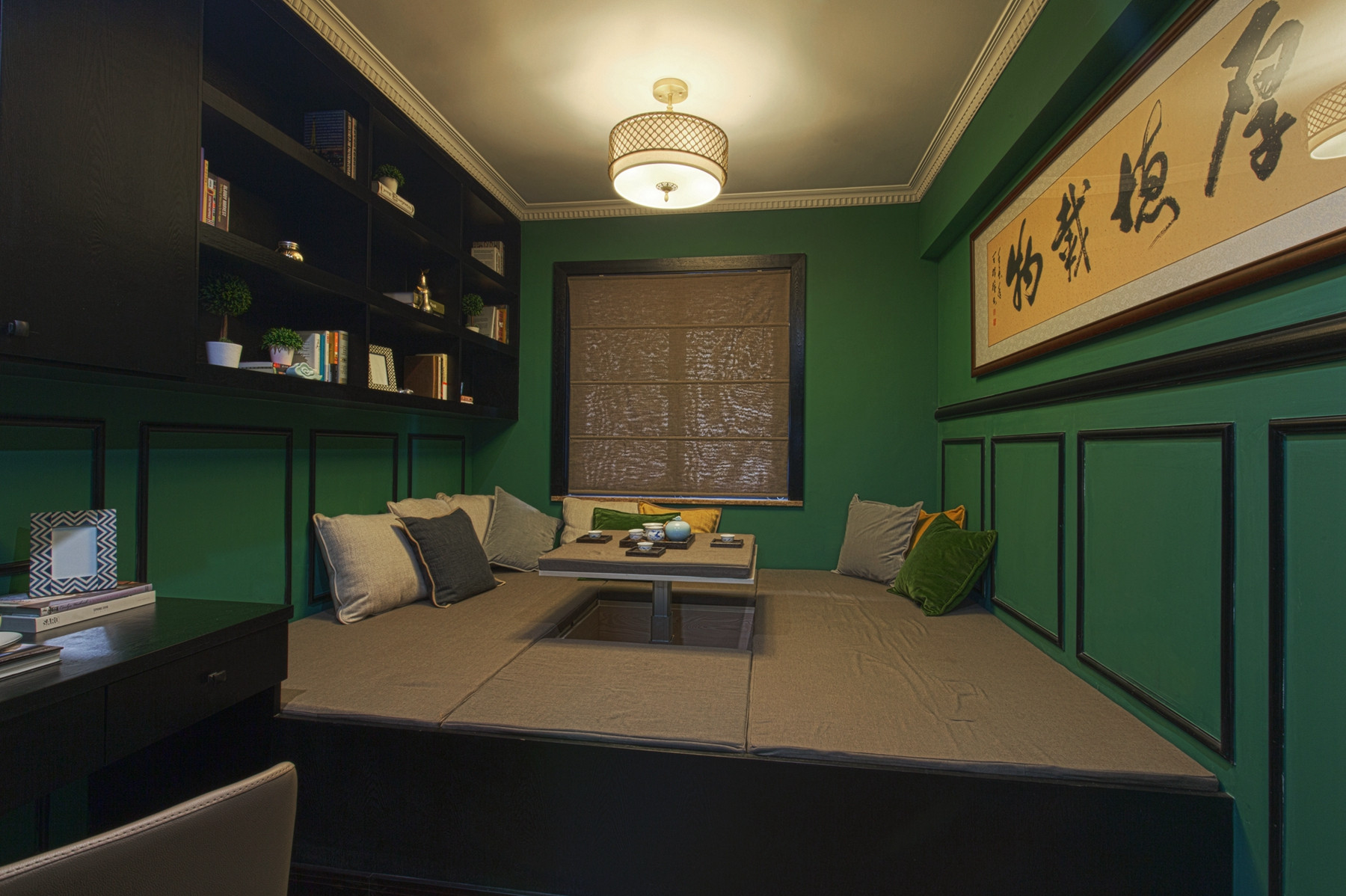 105平现代英伦风格家书房设计图