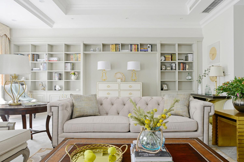 别墅混搭装修沙发背景墙图片