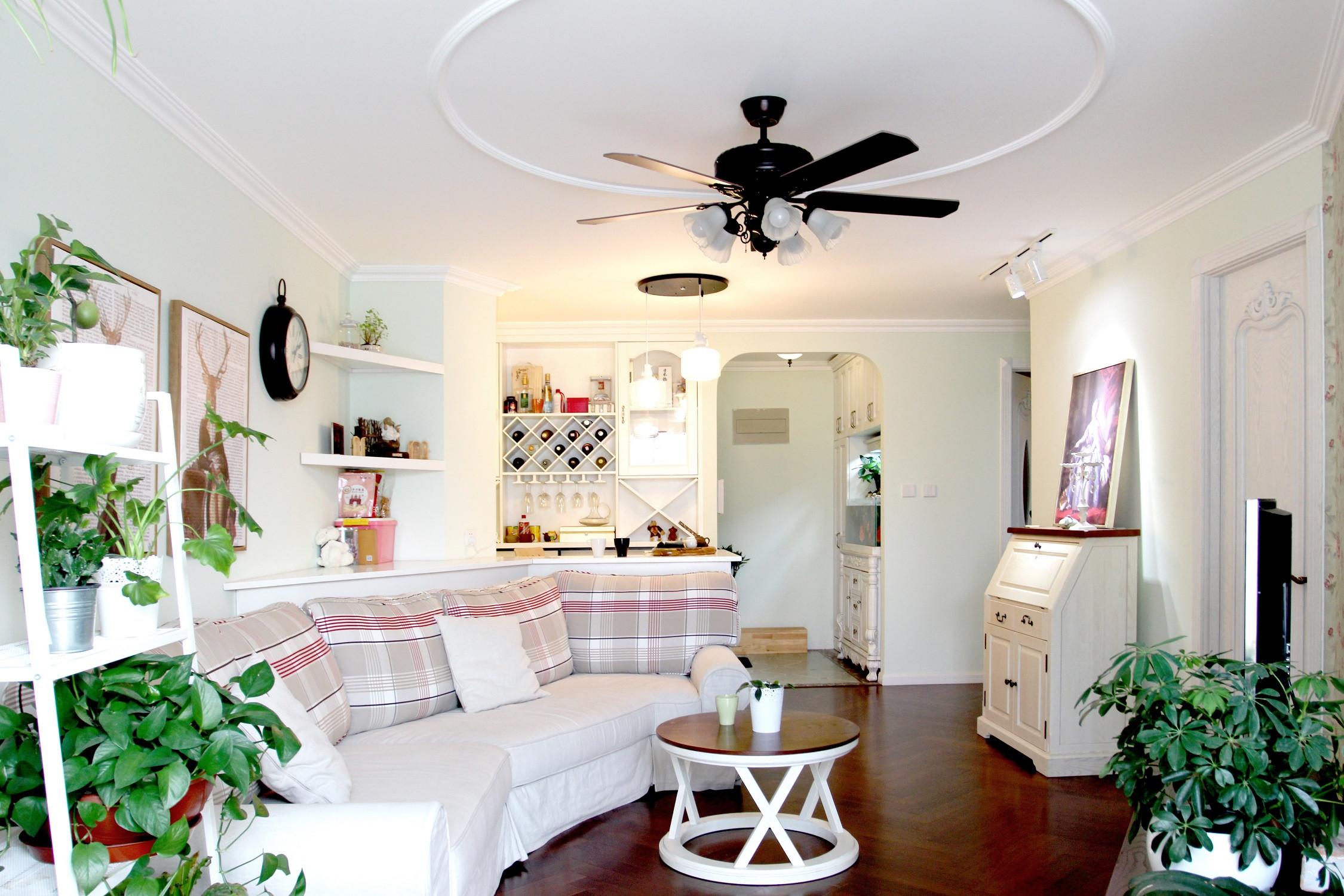 80平田园小居客厅设计图