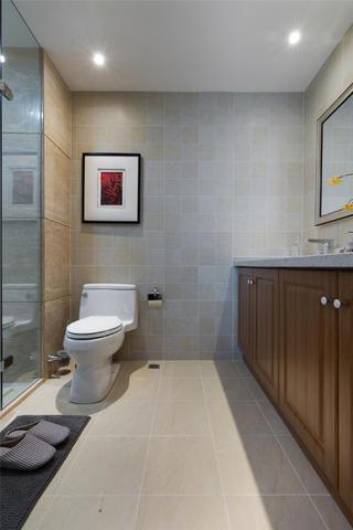 120平混搭风格家浴室柜图片