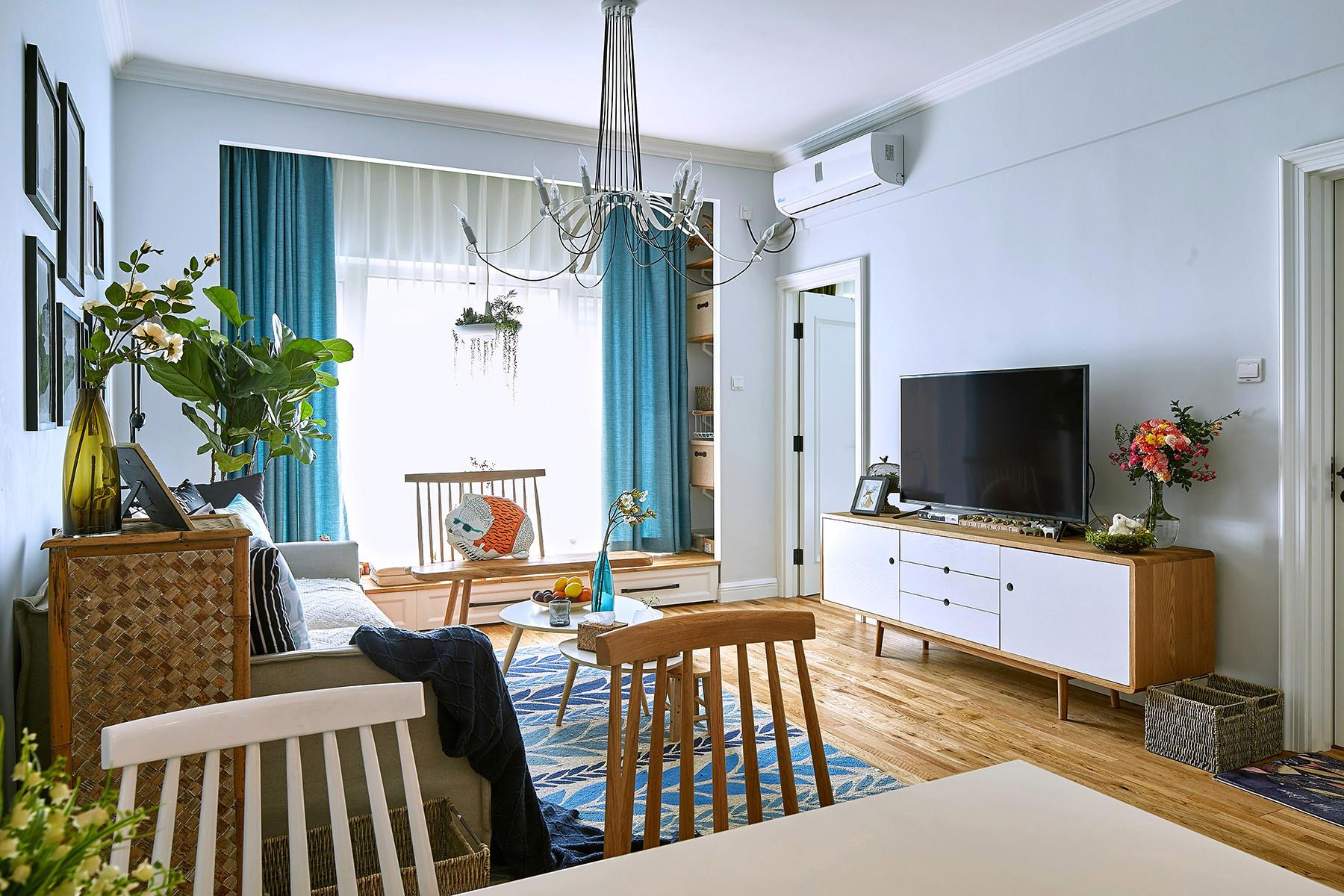 北欧宜家风二居客厅效果图