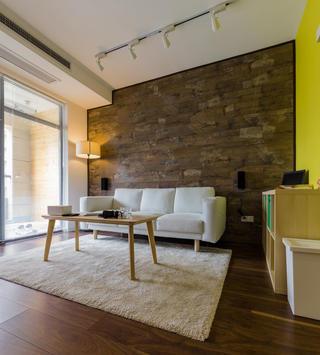 80平简约风格装修沙发背景墙图片