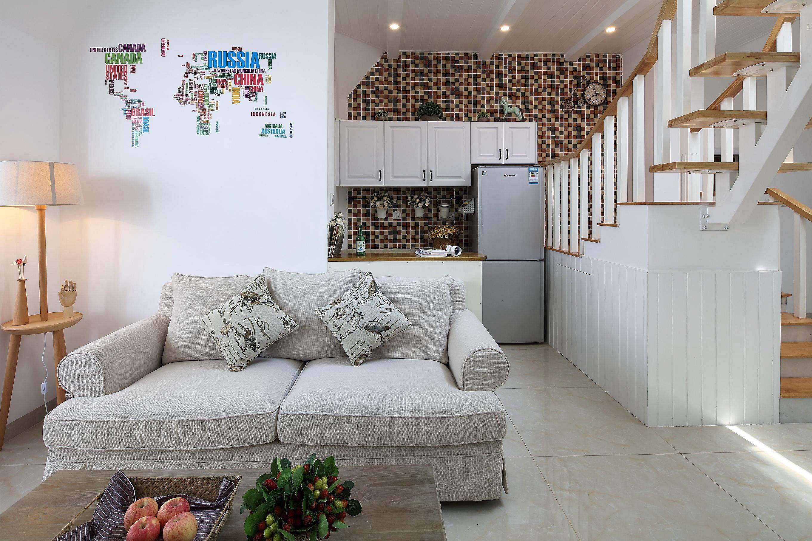 复式北欧风格家沙发图片