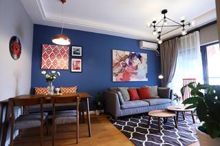 北欧风格二居沙发背景墙图片