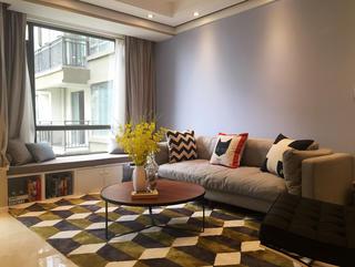 85㎡北欧风格装修沙发背景墙图片