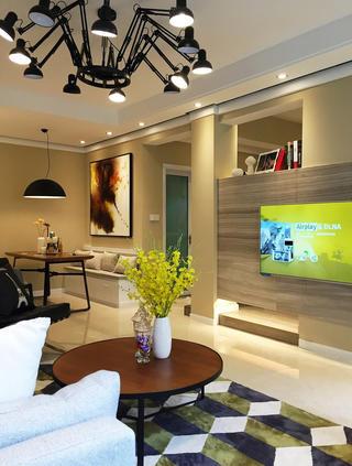 85㎡北欧风格装修电视背景墙图片